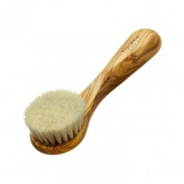 Olive Wood Facial Brush with Pony Hair Bristles (Soft/Medium Strength)