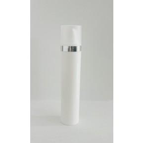Micro 50mL, white silver cap ring