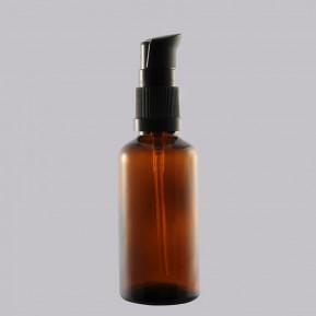 Amber Glass bottle 50 ml with black dispenser