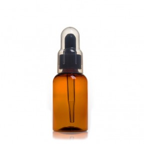 Bottle with dropper 50mL, ambra