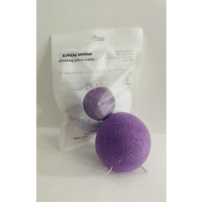 Konjac sponge with lavender (hemisphere)