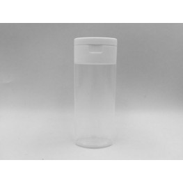 50ml OVAL clear bottle PP with snap on oval white flip top cap