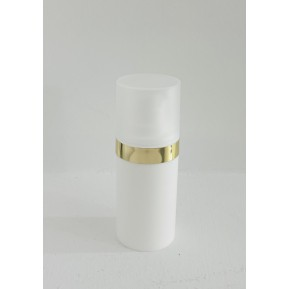 Micro 15mL, λευκό με χρύσο επιμεταλλωμένο δαχτυλίδι