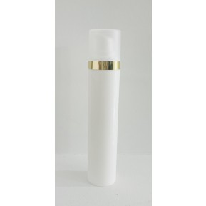 Micro 50mL, λευκό με χρύσο επιμεταλλωμένο δαχτυλίδι
