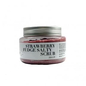 Strawberry fudge salty scrub, 250gr